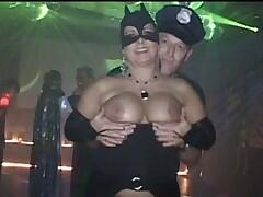 Here is my PartyVideo of my sexy halloweenParty in full size  8 Min . I am dancing with naked pussy on that party the whole night long. Men are touching my ass and I enjoy that.