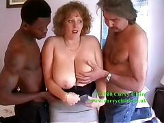 Lucky me Ive got two cocks to play with one black and one white. Fantastic Spit roast here I come Claire xx