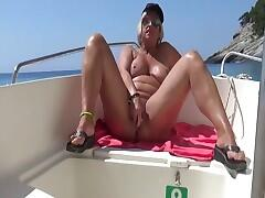 During my boat-cruise in Zakynthos I got horny. The sun and the see and no guy with me... So I took my dildo for a great...